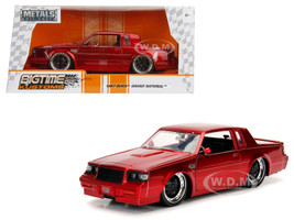 1987 Buick Grand National Candy Red 1/24 Diecast Model Car Jada 30343