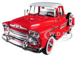 1958 Chevrolet Apache Stepside Pickup Truck Comp Cams Red White Top Limited Edition 5880 pieces Worldwide 1/24 Diecast Model Car M2 Machines 40300-63 B
