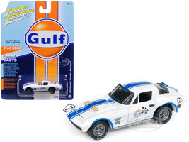1963 Chevrolet Corvette Grand Sport Gulf #7 White Blue Stripes Limited Edition 3000 pieces Worldwide 1/64 Diecast Model Car Johnny Lightning JLSP010