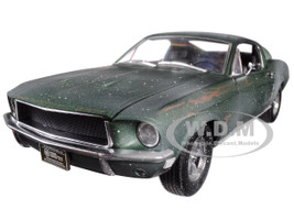 1968 Ford Mustang GT Fastback Green Unrestored Steve McQueen Collection 1930 1980  2018 Detroit Auto Show 1/18 Diecast Model Car Greenlight 13523