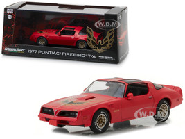 1977 Pontiac Firebird Trans Am Firethorn Red 1/43 Diecast Model Car Greenlight 86330