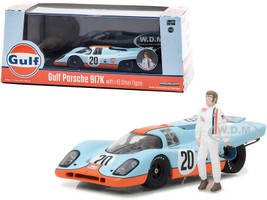 1970 Porsche 917K #20 Gulf Oil Figurine 1/43 Diecast Model Car Greenlight 86435