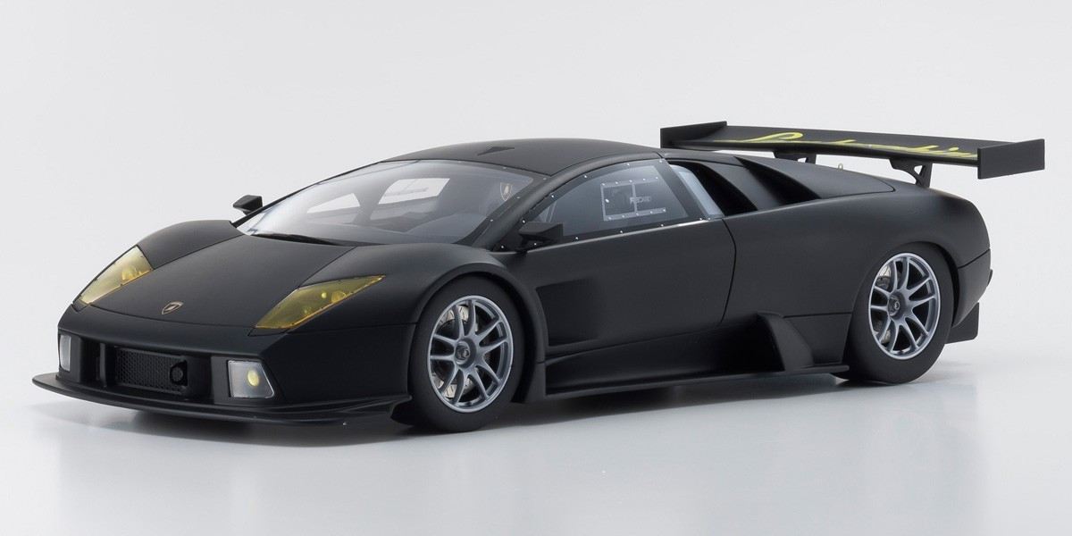 Lamborghini Murcielago R Gt Matte Black 1 18 Model Car By Kyosho