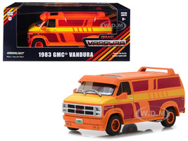 1983 GMC Vandura Custom Orange Custom Graphics 1/43 Diecast Model Car Greenlight 86327