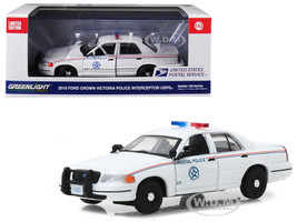 2010 Ford Crown Victoria Postal Police United States Postal Service USPS White 1/43 Diecast Model Car Greenlight 86523