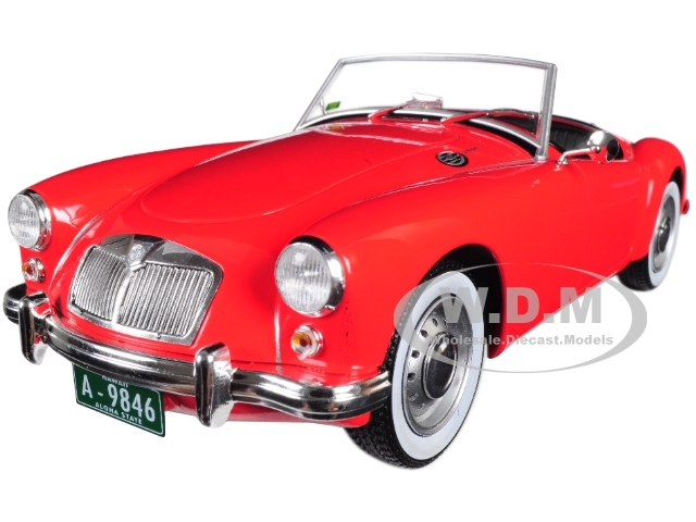 1959 MG A 1600 Roadster MKI Red Blue Hawaii 1961 Movie Elvis Presley Series 1935 1977 1/18 Diecast Model Car Greenlight 13524