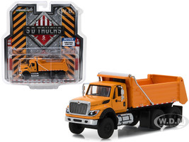 2018 International WorkStar Construction Dump Truck Orange SD Trucks Series 5 1/64 Diecast Model Greenlight 45050 A