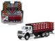 2018 International WorkStar Platform Stake Truck White Cab Red Body SD Trucks Series 5 1/64 Diecast Model Greenlight 45050 B