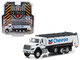 2018 International WorkStar Tanker Truck Chevron White SD Trucks Series 5 1/64 Diecast Model Greenlight 45050 C