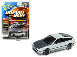 1990 Honda CRX Gloss Gray Street Freaks Series Limited Edition 3600 pieces Worldwide 1/64 Diecast Model Car Johnny Lightning JLCP7131