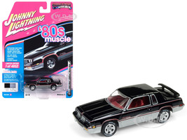 1983 Oldsmobile Cutlass Hurst Black Silver 80's Muscle Limited Edition 4852 pieces Worldwide 1/64 Diecast Model Car Johnny Lightning JLSP025 A