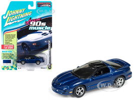 1999 Pontiac Firebird Trans Am WS6 Dark Blue Metallic 90's Muscle Limited Edition 3724 pieces Worldwide 1/64 Diecast Model Car Johnny Lightning JLSP028 A