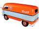 Volkswagen Type 2 T1 Delivery Van #5 Gulf Orange Light Blue 1/24 Diecast Model Car Motormax 79649