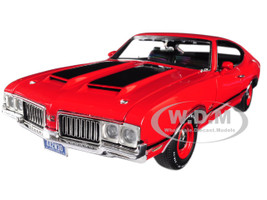 1970 Oldsmobile 442 W-30 Matador Red Black Stripes Limited Edition 396 pieces Worldwide 1/18 Diecast Model Car Acme A1805608