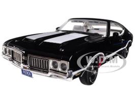 1970 Oldsmobile 442 W-30 Ebony Black White Interior Limited Edition 420 pieces Worldwide 1/18 Diecast Model Car Acme A1805609