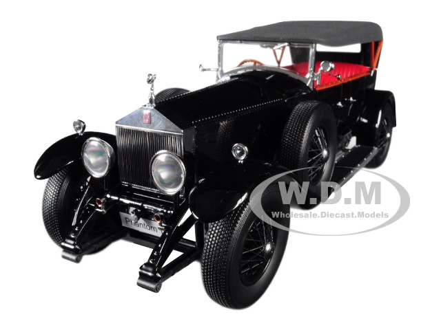 Rolls Royce Phantom I Black Red Interior 1/18 Diecast Model Car Kyosho 08931 BK