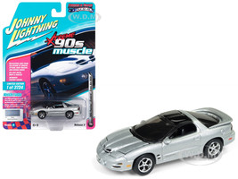 1999 Pontiac Firebird Trans Am WS6 Sebring Silver 90's Muscle Limited Edition 3724 pieces Worldwide 1/64 Diecast Model Car Johnny Lightning JLMC014 JLSP028 B