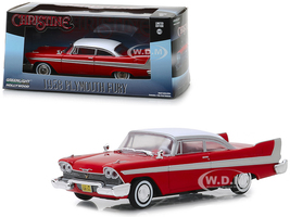 1958 Plymouth Fury Red Christine 1983 Movie 1/43 Diecast Model Car Greenlight 86529