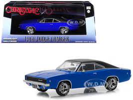 1968 Dodge Charger Dennis Guilder's Blue Black Top Christine 1983 Movie 1/43 Diecast Model Car Greenlight 86531