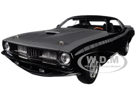Letty's Custom Plymouth Barracuda Matt Black Fast Furious Fast 7 2015 Movie 1/18 Diecast Model Car Highway 61 18005