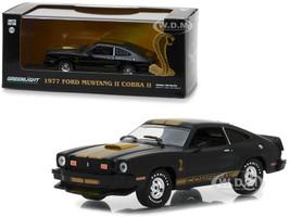 1977 Ford Mustang Cobra II Black Gold Stripes 1/43 Diecast Model Car Greenlight 86319