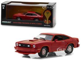 1978 Ford Mustang Cobra II Red 1/43 Diecast Model Car Greenlight 86321