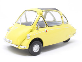 Heinkel Trojan LHD Bubble Car Yellow 1/18 Diecast Model Car Oxford Diecast 18HE003