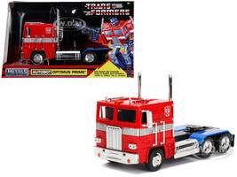 G1 Autobot Optimus Prime Truck Red Robot Chassis Transformers TV Series Hollywood Rides Series Diecast Model Jada 99524