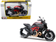 Ducati Diavel Carbon Black Red Motorcycle 1/12 Diecast Model Maisto 11023