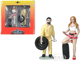 Andie Gary Tire Brigade 2 piece Figurine Set 1/18 Motorhead Miniatures 767