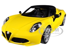 Alfa Romeo 4C Spider Giallo Prototipo Yellow Black Top 1/18 Model Car Autoart 70143