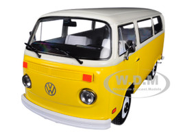 1978 Volkswagen Type 2 T2 Bus Yellow White Top Little Miss Sunshine 2006 Movie 1/24 Diecast Model Greenlight 84081