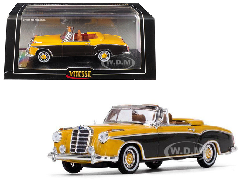 1958 Mercedes Benz 220 SE Cabriolet Yellow Brazil Brown 1/43 Diecast Model Car Vitesse 28626