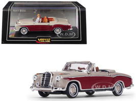 1958 Mercedes Benz 220 SE Cabriolet Light Ivory Red 1/43 Diecast Model Car Vitesse 28627