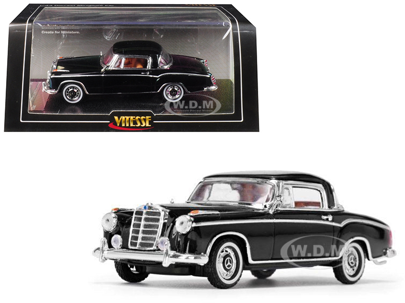 1958 Mercedes Benz 220 SE Coupe Black 1/43 Diecast Model Car Vitesse 28663