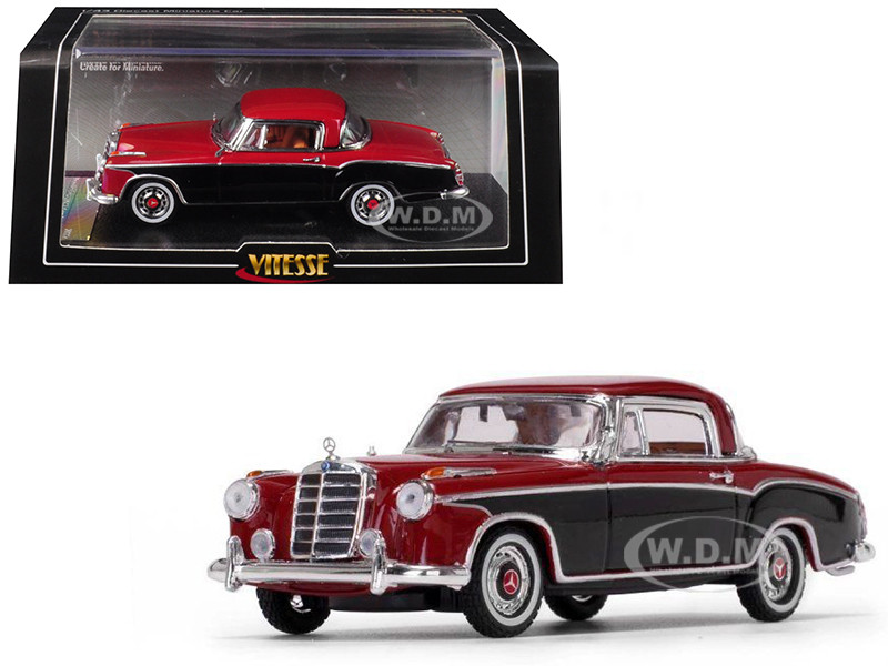 1958 Mercedes Benz 220 SE Coupe Red Black 1/43 Diecast Model Car Vitesse 28667