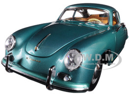 1957 Porsche 356A 1500 GS Carrera GT Coupe Green 1/18 Diecast Model Car Sunstar 1343