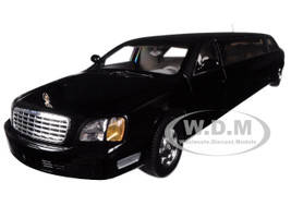 2004 Cadillac DeVille Limousine Black 1/18 Diecast Model Car Sunstar 4231