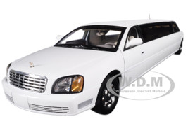 2004 Cadillac DeVille Limousine White 1/18 Diecast Model Car Sunstar 4232