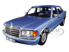 1991 Mercedes Benz 560 SEL Pearl Blue Metallic 1/18 Diecast Model Car Norev 183464