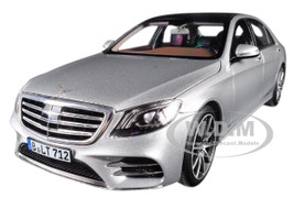 2018 Mercedes S Class AMG Line Silver Metallic 1/18 Diecast Model Car Norev 183479