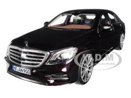 2018 Mercedes Benz S Class AMG Line Ruby Black Metallic 1/18 Diecast Model Car Norev 183483