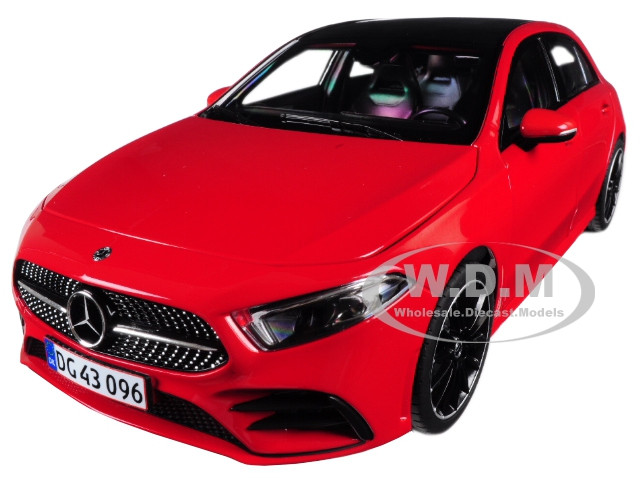 2018 Mercedes Benz A Class Sunroof Red 1/18 Diecast Model Car Norev 183594