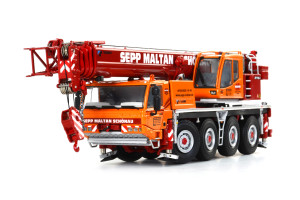 Tadano Faun ATF 70G-4 Sepp Maltan Mobile Crane Orange Red 1/50 Diecast Model WSI Models 01-1492
