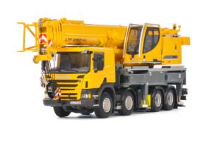 Liebherr LTF 1060-4.1 Truck Mounted Telescopic Crane Yellow WSI Premium Line 1/50 Diecast Model WSI Models 04-1169