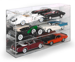 6 Car Acrylic Display Show Case 1/18 Scale Models Autoworld AWDC015