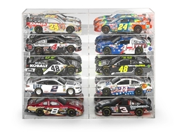 10 Car Acrylic Display Show Case 1/24 1/25 Scale Models Autoworld AWDC016