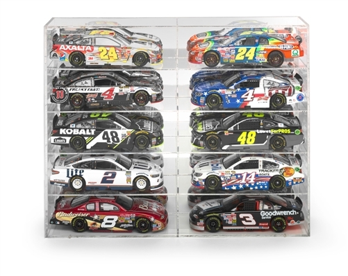 10 Car Acrylic Display Show Case 1/24 1/25 Scale Models Autoworld AWDC016