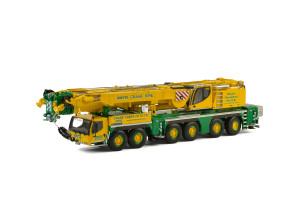 Liebherr LTM 1350-6.1 Whyte Crane Hire Mobile Crane Yellow Green 1/50 Diecast Model WSI Models 51-2008