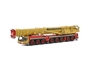Liebherr LTM 1500-8.1 Baumann Mobile Crane Yellow Red 1/50 Diecast Model WSI Models 51-2016